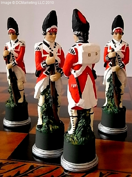 American War of Independence Hand Decorated Theme Chess Set