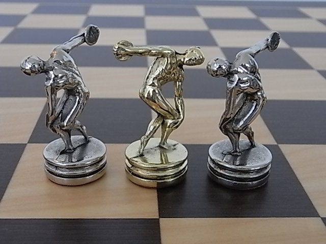 Discus Thrower Themed Chess Set - Manopoulos