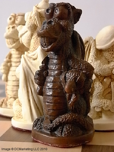Fun Dragon Plain Theme Chess Set