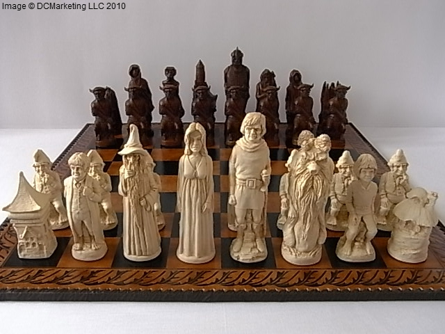 Lord of the rings plain theme chess set large - Lord of the rings chess set for sale ...