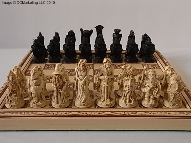 Lord Of The Rings Plain Theme Chess Set Small
