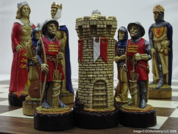 Battle of Bannockburn Hand Decorated Theme Chess Set