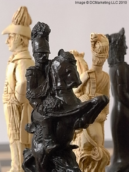 Battle of Waterloo Plain Theme Chess Set