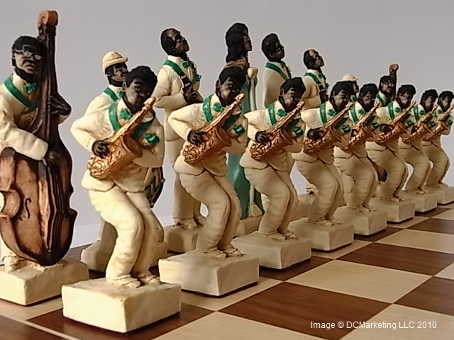 Jazz Hand Painted Theme Chess Set