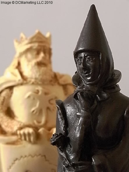 King Arthur Plain Theme Chess Set (Large)