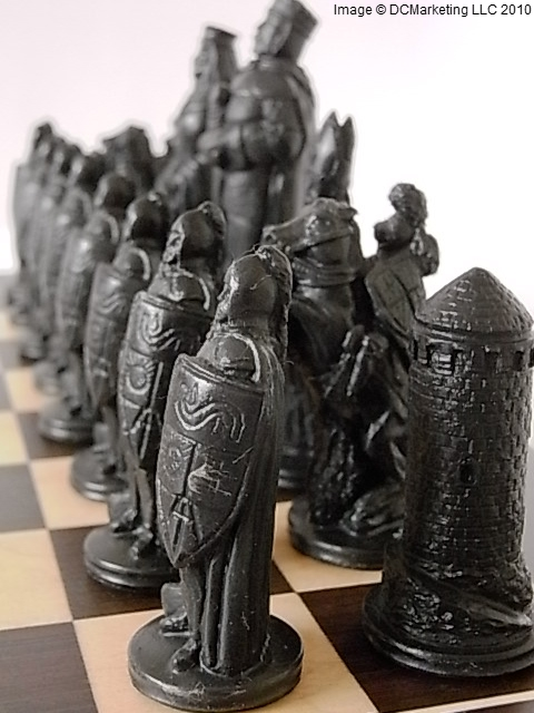 Camelot Plain Theme Chess Set (Small)