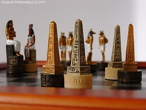Egyptian Themed Chess Set