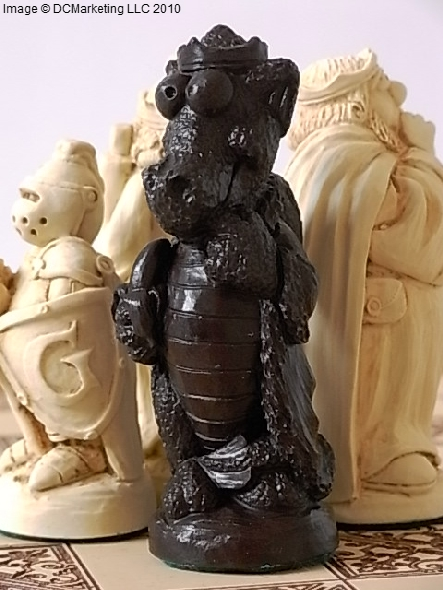 George and the Dragon Plain Theme Chess Set