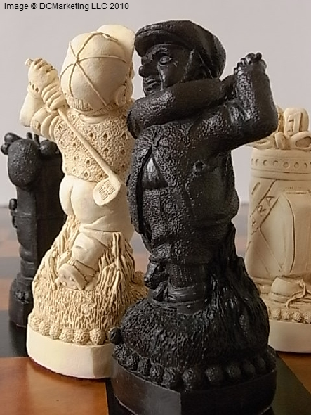 Golf Plain Theme Chess Set