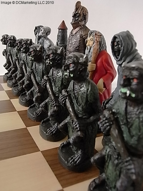 Lord of the Rings Hand Painted Theme Chess Set (Large)
