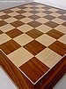 Deluxe Walnut and Maple Chess Board - 50cm